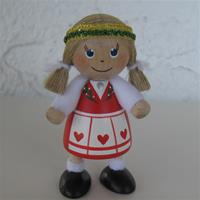 "Christmas girl 3"" wood Made in Sweden"