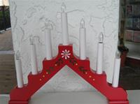 Christmas Candolier Adam Red 7 Candles electric