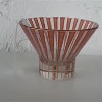 "Bowl/votive ""Copper Twist"" 3 3/4"" tall x 4"" diameter"