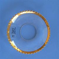 "Bobeche: Gold Pearl 2.5""crystal  Made in Sweden  3 Left in Stock"