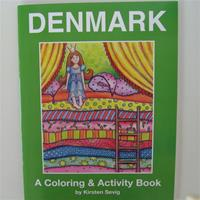 Denmark coloring book