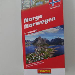 Road map of Norway: scenic routes and places of interest