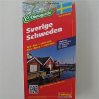 Road map of Sweden scenic routes and places of interest