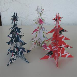 3 dimensional paper Christmas trees 3 in a bag Pluto of Sweden
