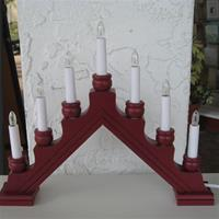 Christmas Candolier Karin Red 7 Candles electric