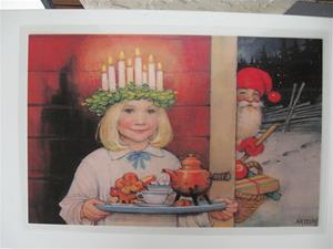"Placemat with Lucia design by Artelius 18"" x 12"" plastic laminated"