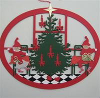 """2 Nissar with Christmas Tree"" papercut mobile"