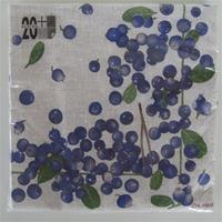 Blueberry design luncheon napkins, 3-ply, 20/pkg