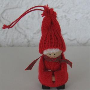 "Christmas tree ornament boy in red clothes 3"" Made in Sweden"