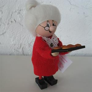 Grandma tomte red with cookie sheet by Ljungströms of Sweden