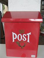 "NEW, LARGER, IMPROVED SWEDISH RED MAILBOX, 15 1/4"" x 10.5"" x 5"". No overseas shipment of this item."