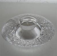 "Orrefors ""Discus"" crystal votive"