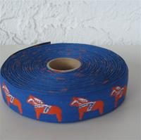 "Blue Dala Horse ribbon 1"" Sold by Yard"