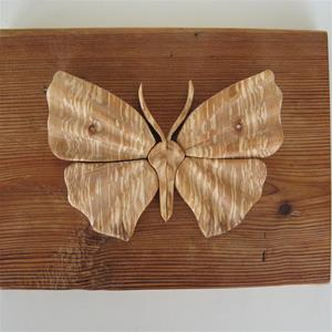 """Butterfly"" by Gunnar Kanevad; world famous Swedish wood sculptor 9"" x 8"""