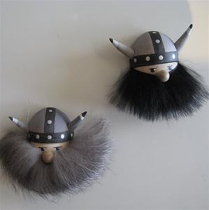 Assorted Viking head magnets black and grey beards available