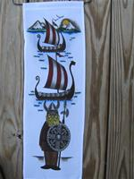 "Viking ship hanger  24"" x 8.5""  polyester"