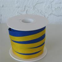 Blue and yellow ribbon sold by yard
