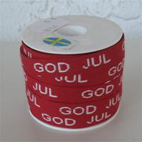 God Jul ribbon sold by yard