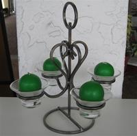 "Danish iron candleholder  13"" x 13""    1 left"