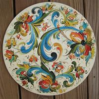 "Rosemaling hex sign   15"" diameter  masonite board"
