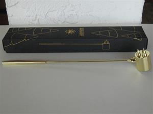 "Brass Candle Snuffer 11.5"" x 1.5"" Pluto of Sweden"