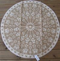"42""diameter jute ""white Christmas decorations"" Christmas tree mat by Frösö of Sweden"