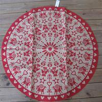 "42""diameter jute ""red Christmas decorations"" Christmas tree mat by Frösö of Sweden"