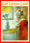 Portfolio with Carl Larsson cards 4 motifs  8 cards