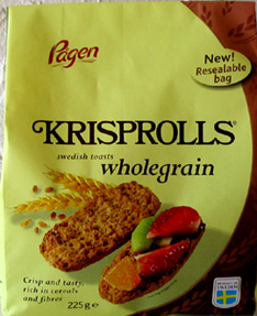 "Pågen whole grain crisprolls ""skorpor"" 7 oz"