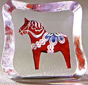 Mats Jonasson Dala Horse Crystal Ice Block